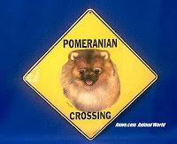 pomeranian crossing sign