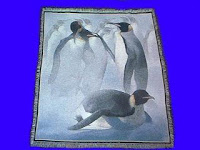 penguin blanket throw tapestry