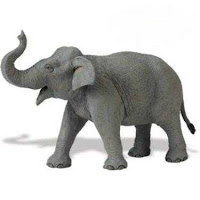 Asian Elephant Toy Minature