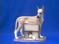 Great Dane figurine with puppy Sherrit Simpson