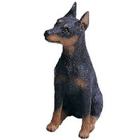 black and tan miniature pinscher figurine sandicast mid size