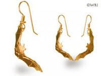 bat earrings gold jewelry