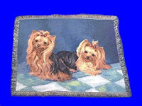 yorkshire terrier blanket throw