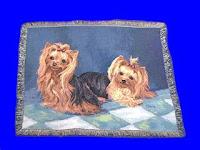 yorkshire terrier blanket throw