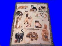 cat blanket throw tapestry 11 cats