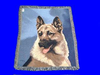 German Shepherd blanket throw tapestry