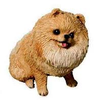 Pomeranian figurine small size
