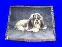 Shih Tzu Blanket Throw Tapestry USA