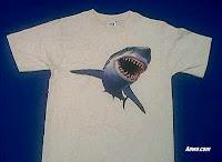 great white shark t shirt