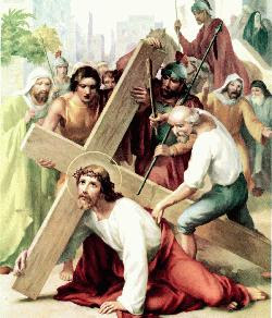 First station of the cross reflection