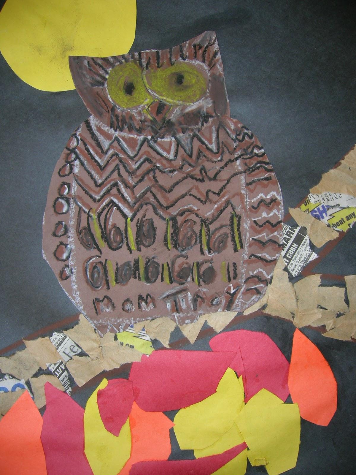 The Elementary Art Room Autumn Owls