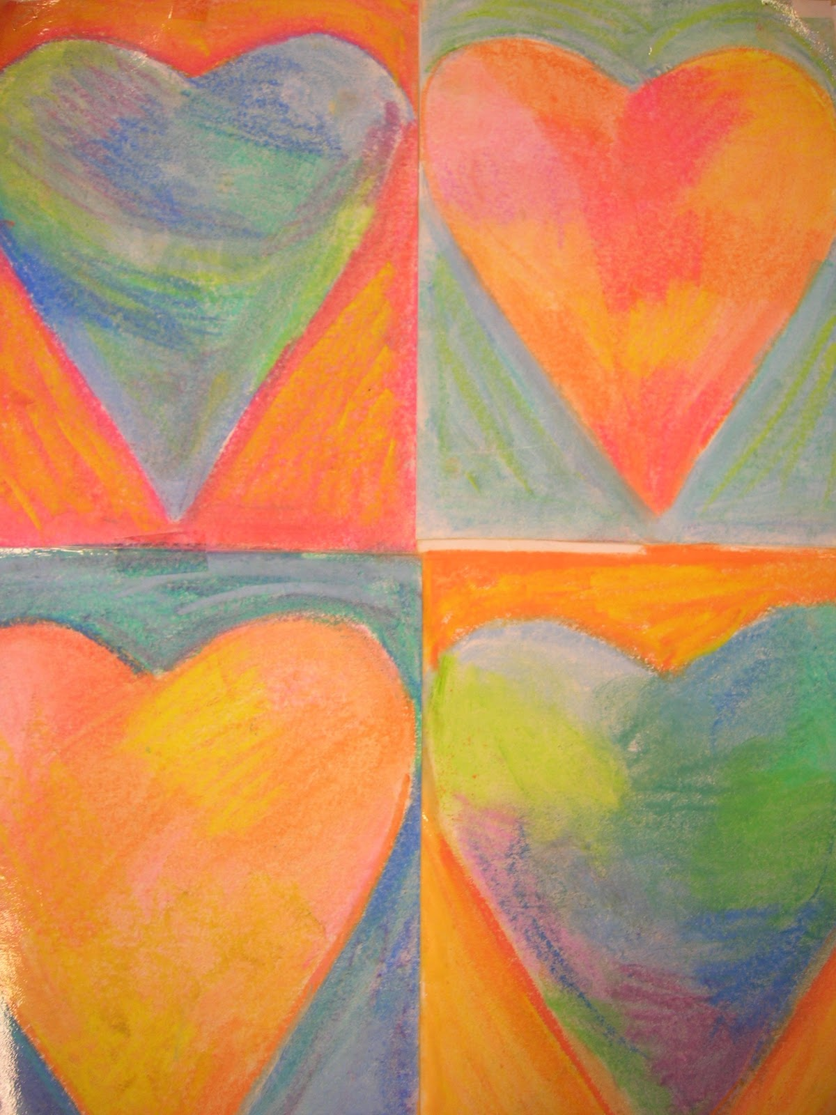 Jim Dine Hearts Art Lesson Valentine Craft 5th Grade