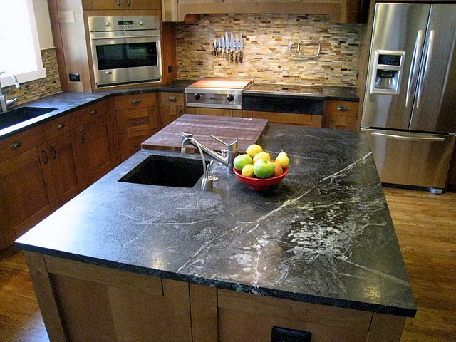 The Veining In Soapstone Is Amazing Did You Pick Out Your Exact Slabs Lay With Fabricator