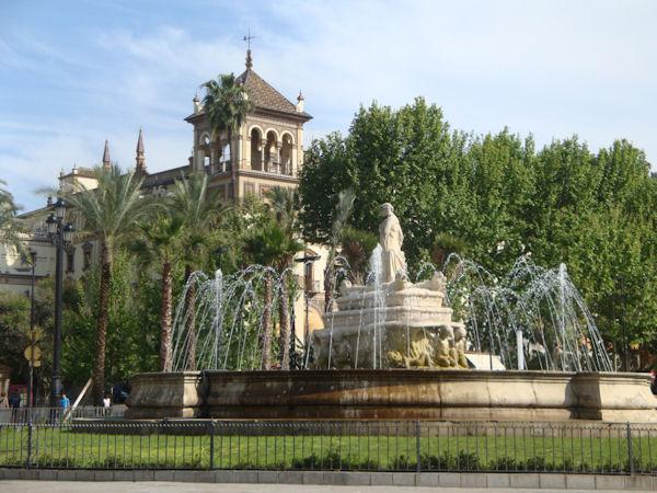 Puerta de jerez just next to the building
