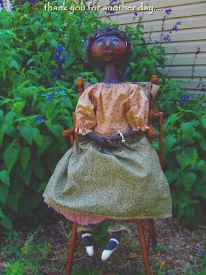 Primitive Doll, Raggedyrhondas, Raggedy Rhondas, air dry clay