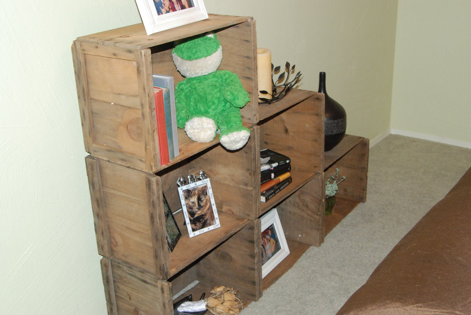 Diy Splendid Living Apple Crate Bookshelves