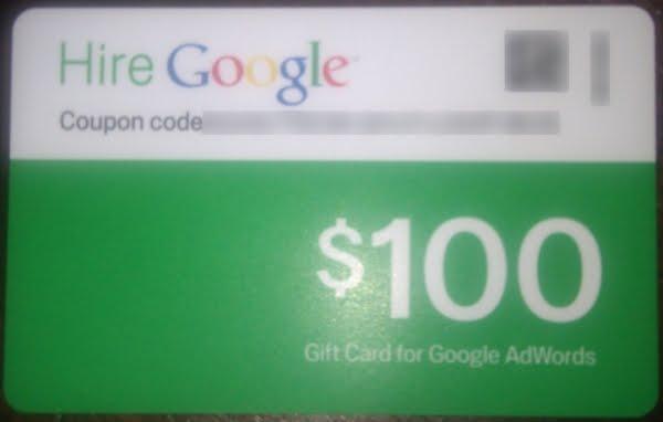 google adwords 100 coupon