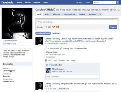 carola häggkvist facebook