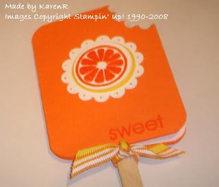 Stampin Up and Tart and Tangy