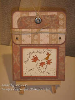 Stampin Up and Best Of Cluck and pocket card