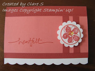 Stampin Up and Heartfelt Thanks
