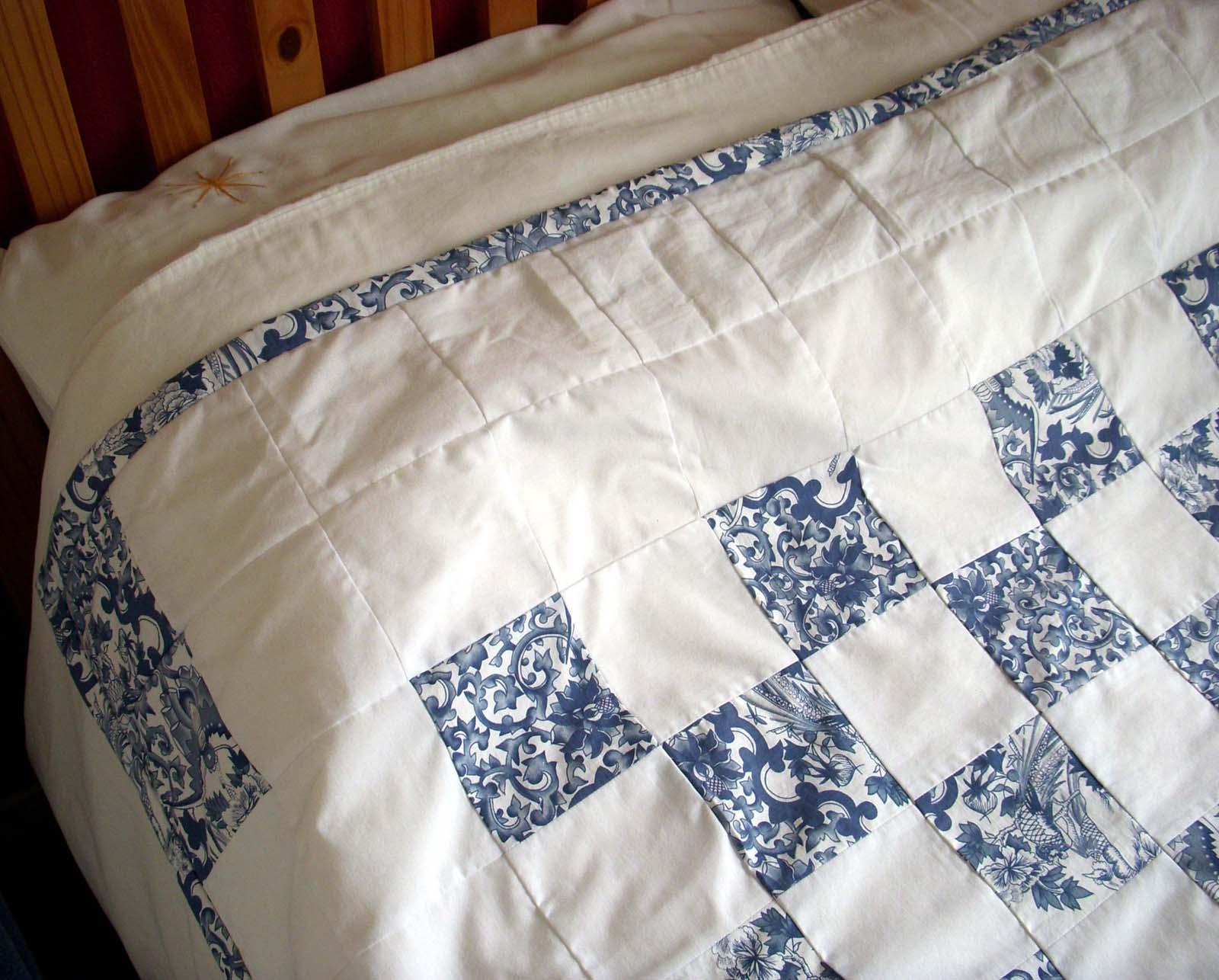 Hart S Corner Blue And White Quilt Finished