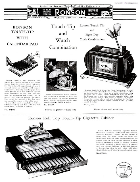Table lighters collectors' guide: Cigarette Lighters