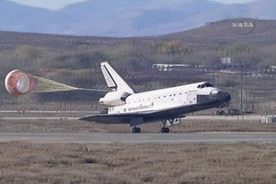 space shuttle landing at edwards air force base - photo #37