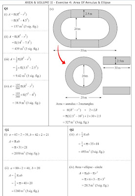 MathsOnline Answers: Area of Annulus & Ellipse