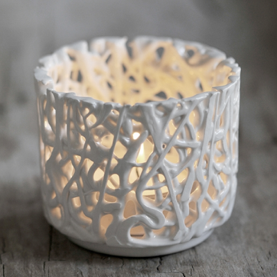 I Love Handmade Tangled Web Tealight Holder By Timea Sido