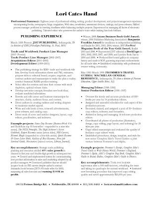 Publishing Careers My Resume