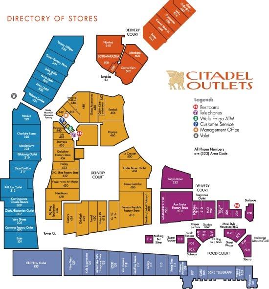Citadel Outlets Map Citadel Outlets Map | compressportnederland Citadel Outlets Map
