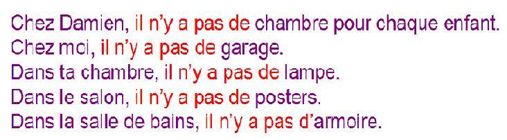 apprends le francais il y a il n y