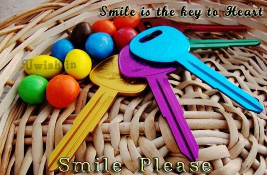 Smile E greeting cards and wishes with colors of smile keys.