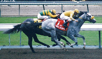 1997 Santa Anita derby Free House and Silver Charm