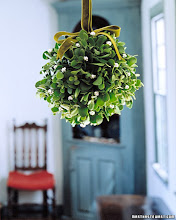 Mistletoe kissing ball