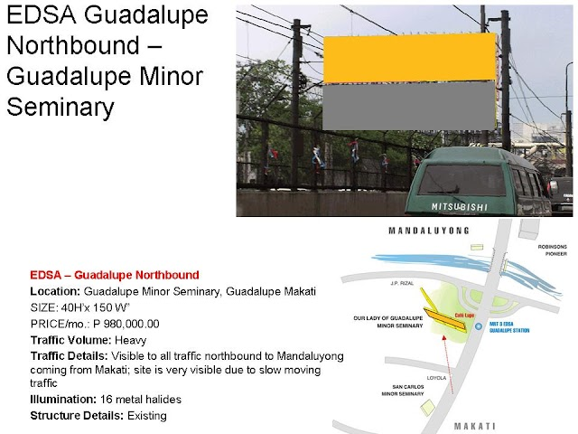 Available Site : EDSA Guadalupe Northbound