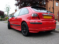 Rover 25 Solar Red Modified Rear View