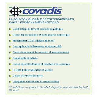 logiciel covadis 2010 gratuit