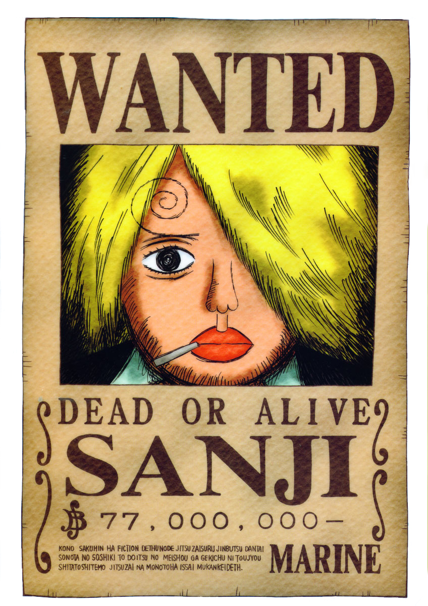 Faraddina's Favorite Things: Onepiece Wanted Poster
