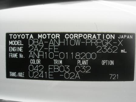 The Eight Seaters Story Toyota Alphard Model Code For 1st Gen Toyota Alphard