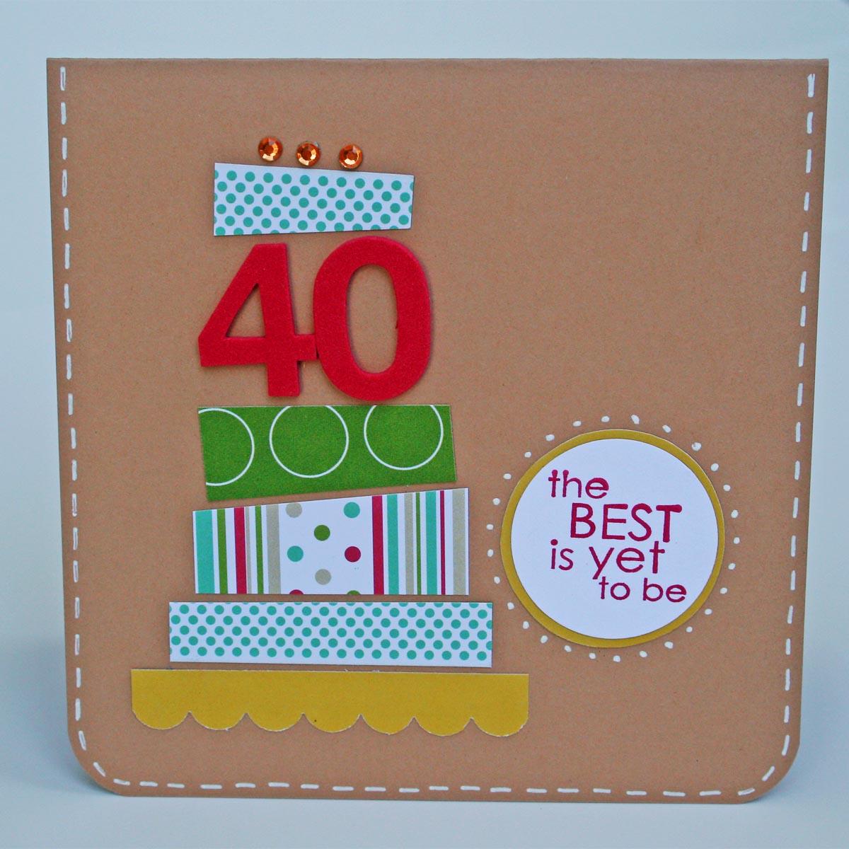 Carrot Top X 3: 40th Birthday Card