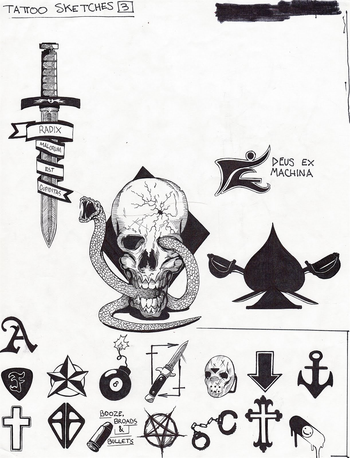 4d9721f44 Tattoo Sketches 3 | The Sketchblog Graveyard-