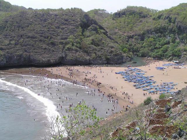 Pantai+Baron Peta Wisata (Pantai) di Gunungkidul, Yogyakarta
