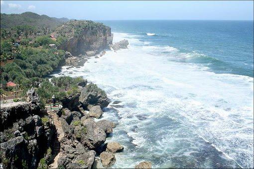 Pantai+Ngobaran Peta Wisata (Pantai) di Gunungkidul, Yogyakarta