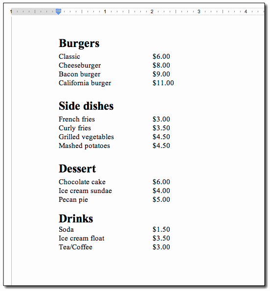 Google Drive Blog Tips Tricks Table Of Contents In