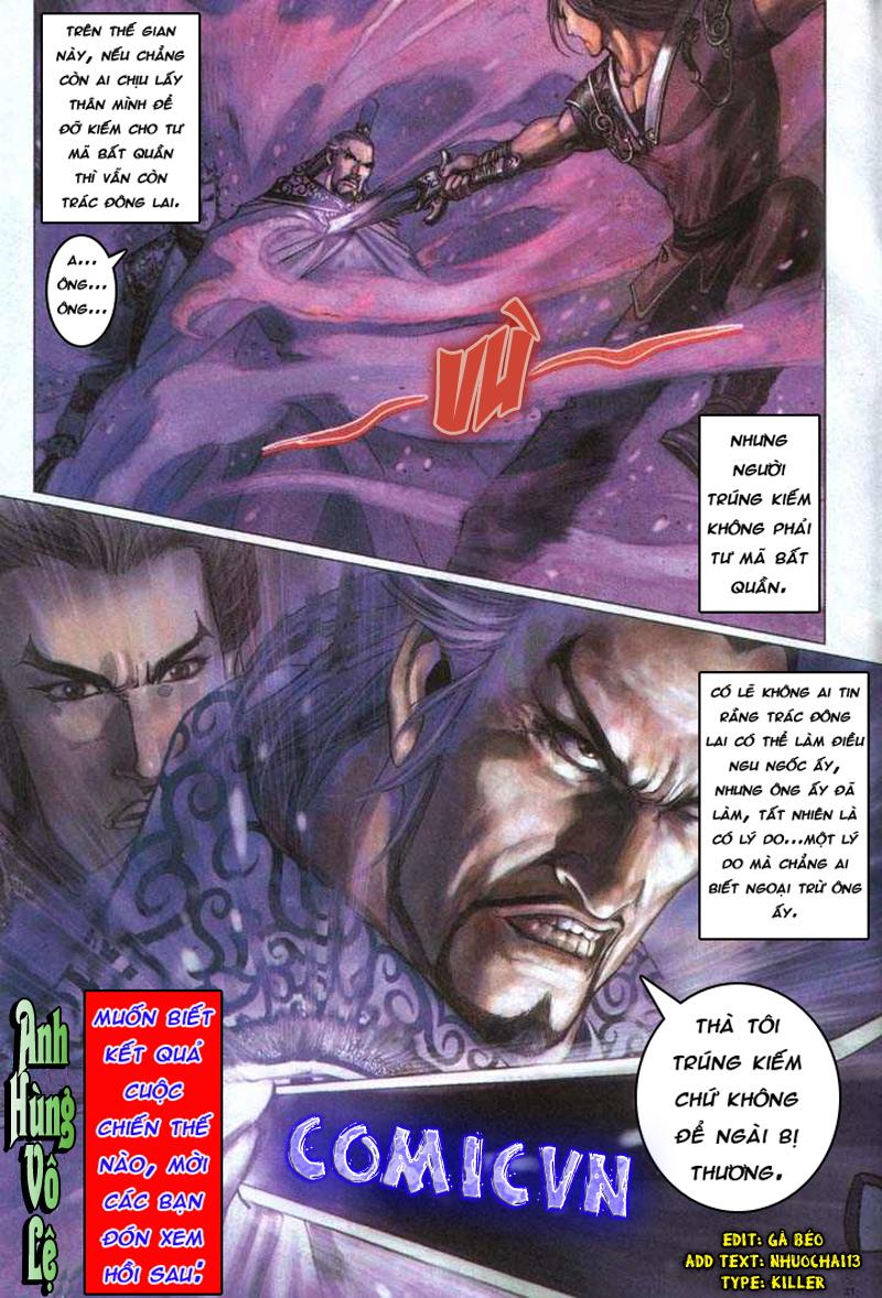 Anh hùng vô lệ chap 5 trang 32