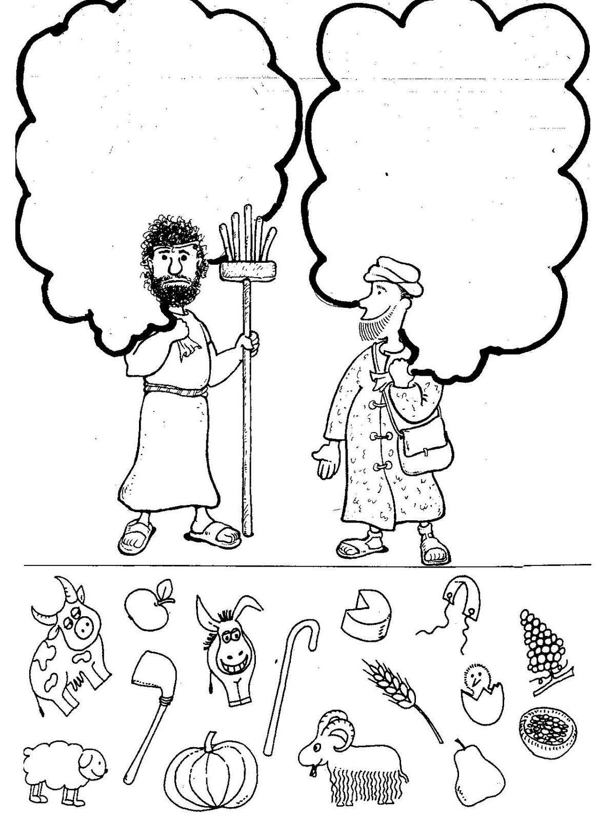 cain and abel coloring pages - photo#22