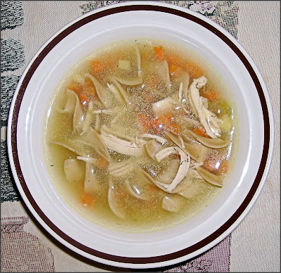Becky Cooks Lightly ~ Chicken Noodle Soup with Dill