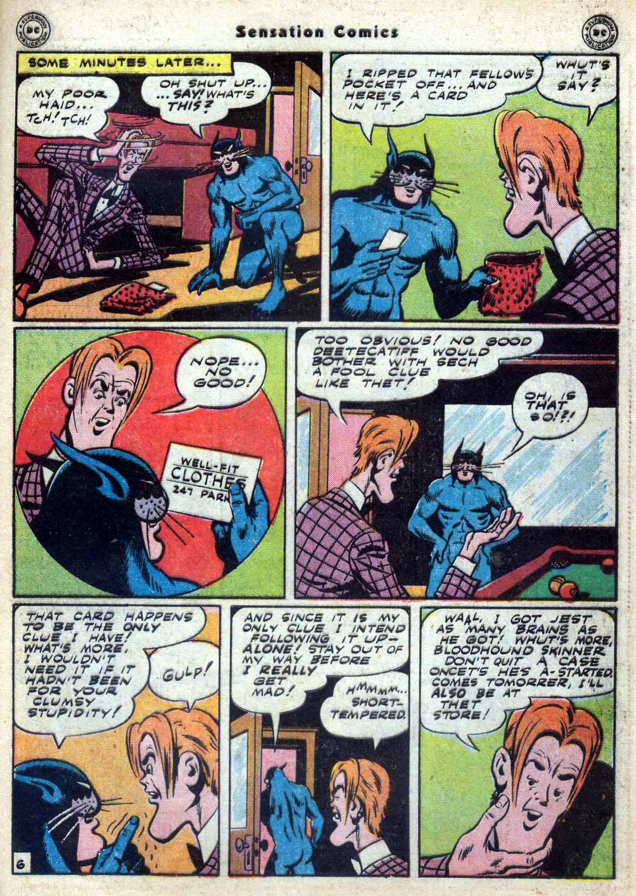 Read online Sensation (Mystery) Comics comic -  Issue #59 - 47